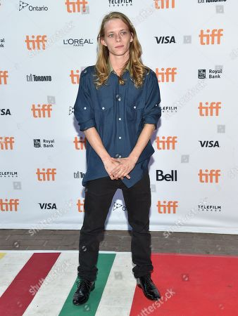 """Stock Image of Isaiah Stone arrives at the """"American Honey"""" premiere on day 4 of the Toronto International Film Festival at the Ryerson Theatre, in Toronto"""