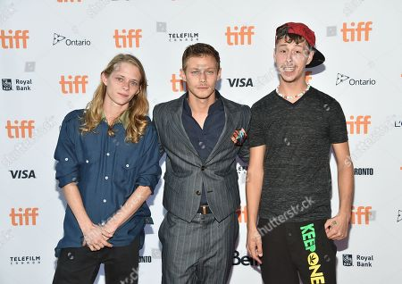 """Stock Picture of Isaiah Stone, left, McCaul Lombardi and Raymond Coalson attend the """"American Honey"""" premiere on day 4 of the Toronto International Film Festival at Ryerson Theatre, in Toronto"""