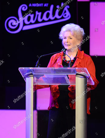 Actress Millicent Martin speaks onstage at the 21st Annual 'A Night at Sardi's' to benefit the Alzheimer's Association at the Beverly Hilton Hotel on in Beverly Hills, Calif