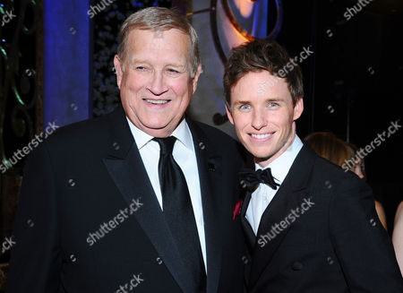Ken Howard, left, and Eddie Redmayne in the audience at the 21st annual Screen Actors Guild Awards at the Shrine Auditorium, in Los Angeles