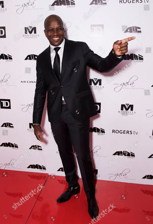 Donovan Bailey arrives at the 2nd Annual AMBI Gala at The Ritz-Carlton Hotel, in Toronto