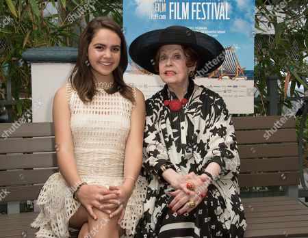 Bailee Madison, left, and Arlene Dahl attend the 31st annual Fort Lauderdale International Film Festival at Savor Cinema on Friday, Nov.11, 2016 in Fort Lauderdale, Fla