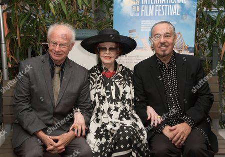Stock Image of Foster Hirsch, from left, Arlene Dahl and Marc Rosen the 31st annual Fort Lauderdale International Film Festival at Savor Cinema on Friday, Nov.11, 2016 in Fort Lauderdale, Fla