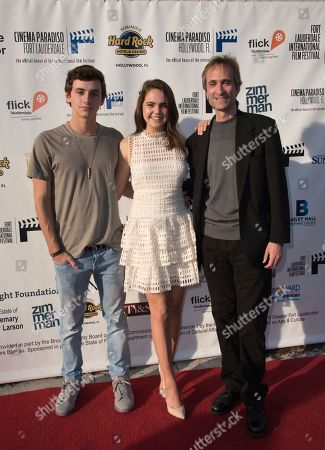 Stock Image of Mavrick Moreno, from left, Bailee Madison and Director Paul Serafini arrive at the 31st annual Fort Lauderdale International Film Festival at Savor Cinema on Friday, Nov.11, 2016 in Fort Lauderdale, Fla