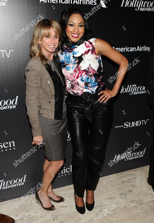 Bonnie Hammer, left, and Alicia Quarles attend The 35 Most Powerful People in Media hosted by The Hollywood Reporter at The Four Seasons Restaurant, in New York