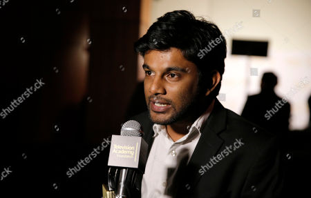"""Stock Photo of Shubhashish Bhutiani of School of Visual Arts participates in the interview with the Directing Award for """"Kush"""" at the 35th College Television Awards, presented by the Television Academy Foundation at The Leonard H. Goldenson Theatre in the NoHo Arts District, in Los Angeles"""