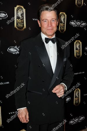 Brett Stimely arrives at the 45th Annual Academy of Magical Arts Award Show at the Orpheum Theatre on