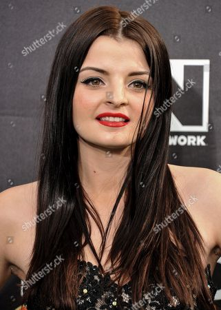 Stock Picture of Dakota Hood arrives at the 4th Annual Hall of Game Awards on Saturday, Feb, 15, 2014 in Santa Monica, Calif
