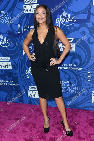Chante Moore arrives at the 6th Annual ESSENCE Black Woman In Music held at Avalon, in Los Angeles