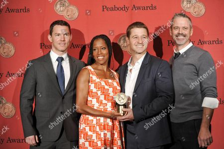 "Southland"" cast members, from left, Shawn Hatosy, Regina King, Ben McKenzie and C. Thomas Howell attend the 72nd Annual George Foster Peabody Awards at the Waldorf-Astoria on in New York"