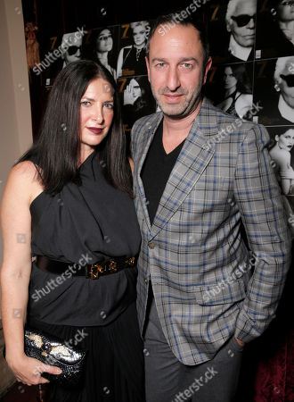 Raven Kauf and Christos Garkinos attend the 7Hollywood Fantasy Issue Launch Celebration on in Los Angeles