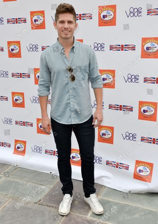 Stock Photo of Jake Whetter arrives at the 7th Annual Kidstock Music and Art Festival at the Greystone Mansion on Sunday, June2, 2013 in Beverly Hills, Calif
