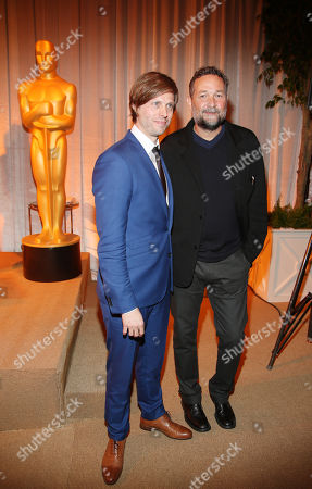 "Felix van Groeningen, a Flemish film director of Oscar-nominated foreign language film ""The Broken Circle Breakdown,"" and film director Phedon Papamichael seen at 86th Academy Awards - Foreign Language Film Award Reception, on in Los Angeles, Calif"