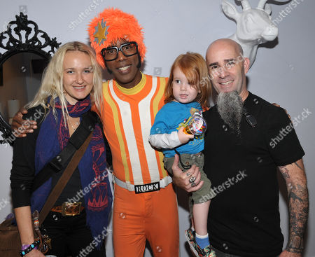 From right, Scott Ian is seen with son Revel Ian, DJ Lance Rock, and wife Pearl Aday at A Very Awesome Yo Gabba Gabba! Live! Holiday Show, on at Nokia Theater, L.A. Live in Los Angeles