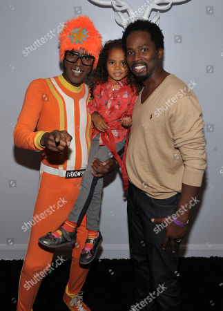 From right, Harold Perrineau and daughter Wynter Aria Perrineau are seen with DJ Lance Rock at A Very Awesome Yo Gabba Gabba! Live! Holiday Show, on at Nokia Theater, L.A. Live in Los Angeles