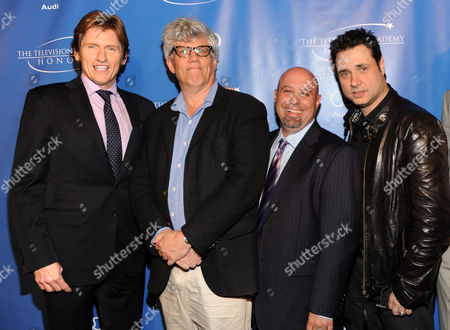 """MAY 2: (L-R) Actors Denis Leary, Peter Tolan, executive producer Jim Serpico and actor Adam Ferrara arrive at the Academy of Television Arts & Sciences Presents """"The 5th Annual Television Academy Honors"""" at the Beverly Hills Hotel on in Beverly Hills, California"""