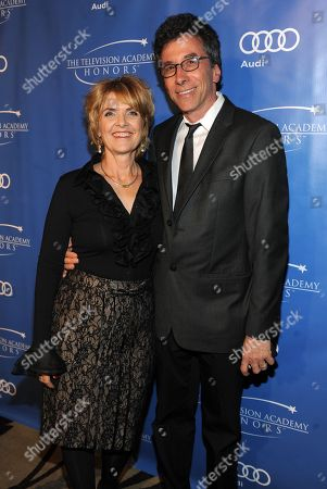 """MAY 2: (L-R) Executive producer Gini Reticker and guest arrive at the Academy of Television Arts & Sciences Presents """"The 5th Annual Television Academy Honors"""" at the Beverly Hills Hotel on in Beverly Hills, California"""