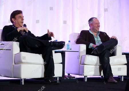 Paul Hertzberg, President & CEO, CineTel Films, Inc and Eric Brenner, Partner, Informant Media are seen at the 2014 American Film Market (AFM) at the Loews Santa Monica Hotel on in Santa Monica, Calif