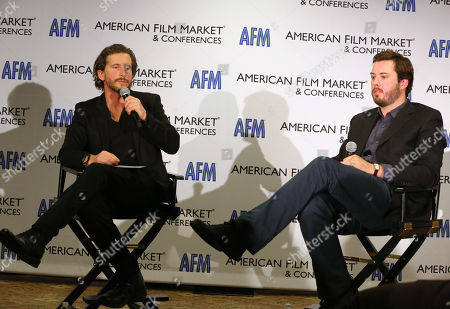 Co-Presidents, Production & Acquisitions, of FilmNation, Aaron Ryder and Ben Browning are seen at the 2014 American Film Market (AFM) at the Loews Santa Monica Hotel on in Santa Monica, Calif