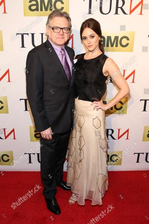 Actor Kevin R. McNally and actress Heather Lind attend the premiere of AMC's new series TURN at The National Archives on in Washington, DC