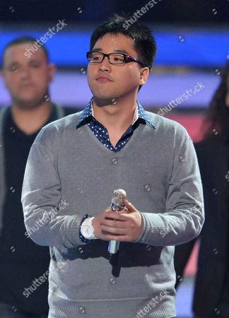 Heejun Han performs onstage at the American Idol Finale on in Los Angeles