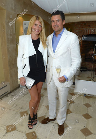 Meredith Ostrom and Ed Taylor attends An Evening of Dinner & Dancing at Daphne's,, in London