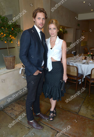 James Rousseau and Annabelle Wallis attend An Evening of Dinner & Dancing at Daphne's,, in London