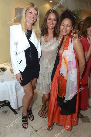 Meredith Ostrom, Sasha Volkova and Rachael Barrett attend An Evening of Dinner & Dancing at Daphne's,, in London