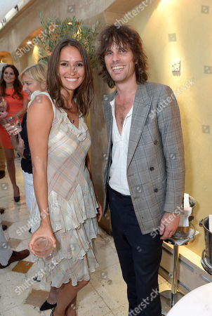 Sasha Volkova and Jackson Scott attend An Evening of Dinner & Dancing at Daphne's,, in London