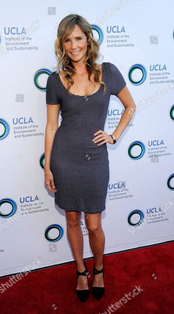 Stock Picture of Model Lisa Sheldon poses at the UCLA Institute of the Environment and Sustainability's An Evening of Environmental Excellence on in Beverly Hills, Calif