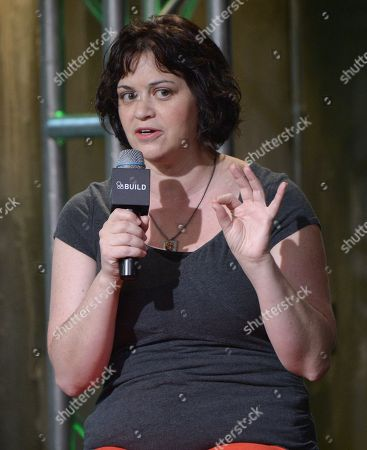 """Stock Image of Writer Amy Fox participates in AOL's BUILD Speaker Series to discuss the film """"Equity"""" at AOL Studios, in New York"""