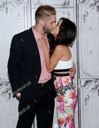 """Television personalities Kaitlyn Bristowe and Shawn Booth participate in AOL's BUILD Speaker Series to discuss the reality show, """"The Bachelorette"""", at AOL Studios, in New York"""