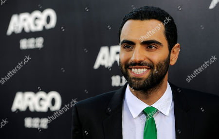 "Farshad Farahat, a cast member in ""Argo,"" arrives at the premiere of the film at The Academy of Motion Picture Arts & Sciences, in Beverly Hills, Calif"