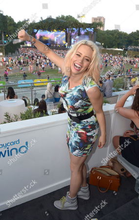 Kimberley Wyatt in the Barclaycard UNWIND VIP Lounge at Barclaycard presents British Summer Time at Hyde Park in London on