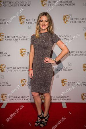 Stock Image of Rachel Stringer poses for photographers upon arrival at the BAFTA Children's awards, in London