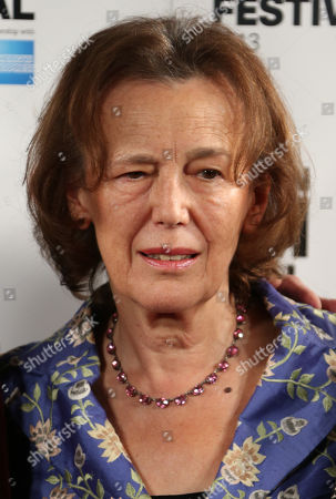 Author Claire Tomalin poses for photographs during a photo call for the film, The Invisible Woman, as part of the 57th BFI London Film Festival, in a central London hotel