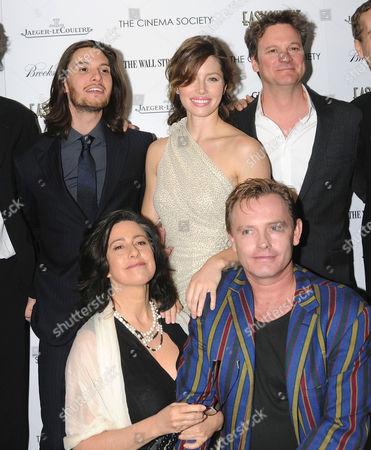 L-R: Ben Barnes, Jessica Biel, Colin Firth, Sheridan Jobbins and Stephan Elliott