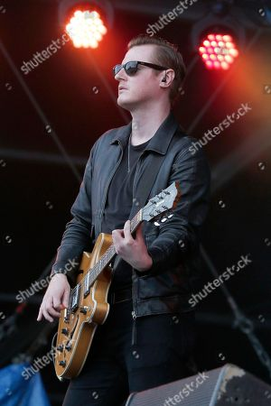 """Daniel """"Conan"""" Moores of the Courteneers performs at the Isle of Wight Festival on in Newport, Isle of Wight, England"""