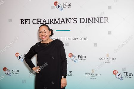 Oona King poses for photographers upon arrival at the BFI Chairman's Dinner in London