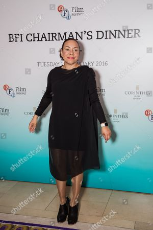 Stock Image of Oona King poses for photographers upon arrival at the BFI Chairman's Dinner in London