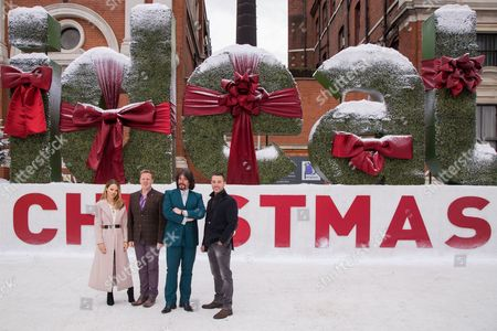 Katie Piper, Olly Smith, Laurence Llewellyn-Bowen and Gino D'Acampo pose for photographers during a photo call in London