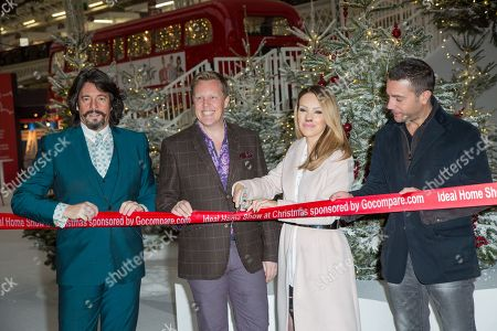 Stock Image of From left, Laurence Llewelyn-Bowen, Olly Smith, Katie Piper and Gino D'Acampo pose for photographers during a photo call in London