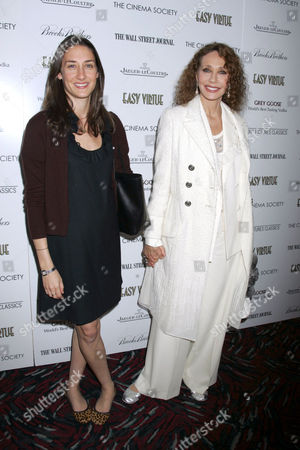 Marisa Berenson (R) and daughter Starlite Randall