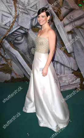Evangeline Lily poses for photographers upon arrival at the World premiere of the film The Hobbit, The Battle of the Five Armies in London