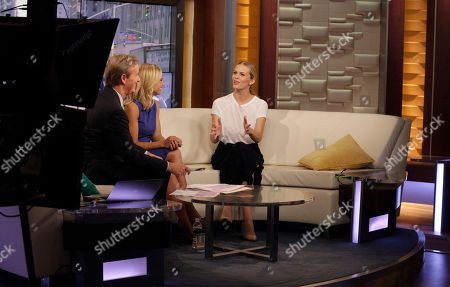 From left, television hosts Steve Doocy and Elisabeth Hasselbeck, and actress Brooklyn Decker appear on Fox & Friends on in New York