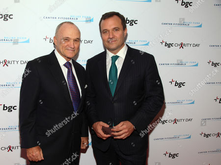Raymond Kelly, left, and Greg Kelly, right, attend Cantor Charity Day 2015 hosted by Cantor Fitzgerald and BGC Partners, in New York