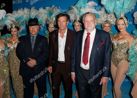 Stock Picture of Michael Chiklis, Dennis Quaid and Sheriff Ralph Lamb attend the CBS 2012 Fall Premiere Party at Greystone Manor on in West Hollywood, Calif