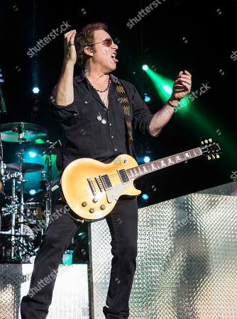 Thom Gimbel with Foreigner opens for Kid Rock during the Cheap Date Tour 2015 at Aaron's Amphitheatre, in Atlanta