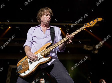 Jeff Pilson with Foreigner opens for Kid Rock during the Cheap Date Tour 2015 at Aaron's Amphitheatre, in Atlanta