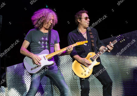 Thom Gimbel and Bruce Watson with Foreigner opens for Kid Rock during the Cheap Date Tour 2015 at Aaron's Amphitheatre, in Atlanta
